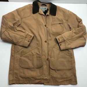 L.L. Bean Canvas Jacket Tan Size L Tall